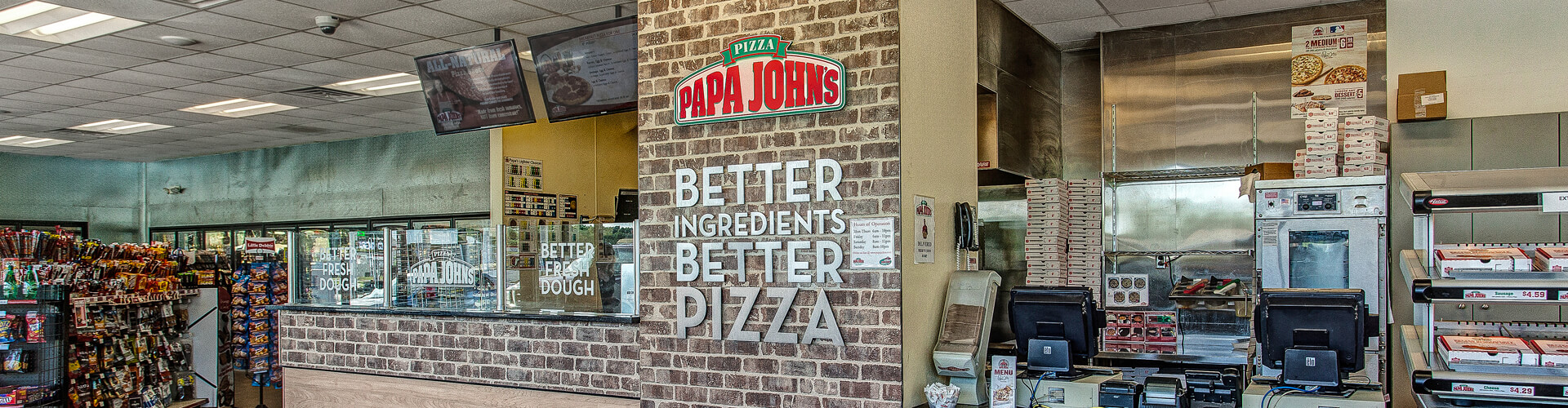 Papa Johns inside Leiszler Oil Company - Shortstop