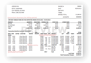 image of an example invoice